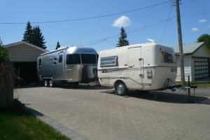 Fiberglass Surfside and Aluminum Airstream