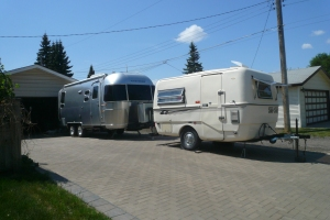 Fiberglass Surfside and Aluminum Airstream