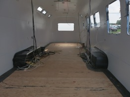 Business trailers (white painted interior walls)
